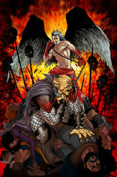 demon knights 13 cover by bernardchang