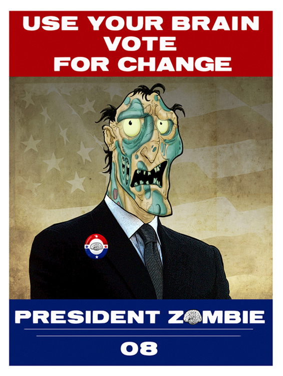 president Zombie by HEROBOY