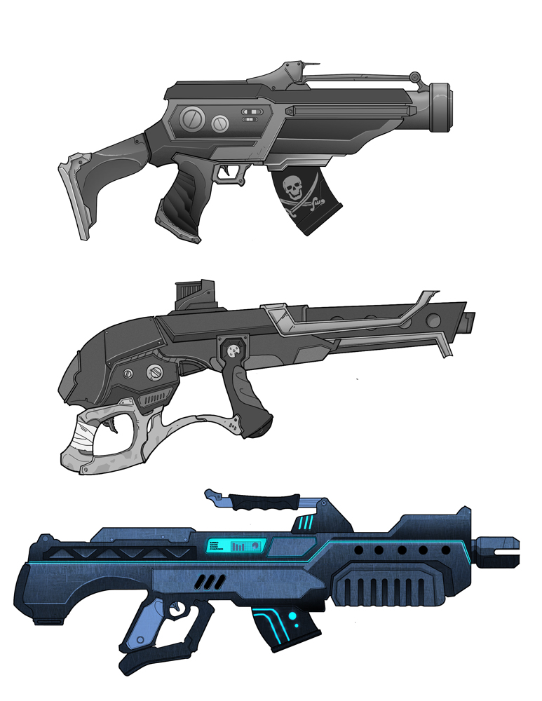 gun designs by HEROBOY