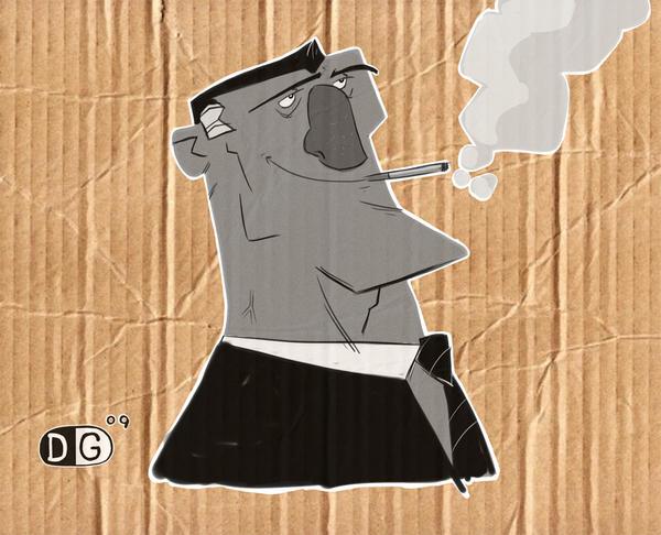 smoking guy by HEROBOY