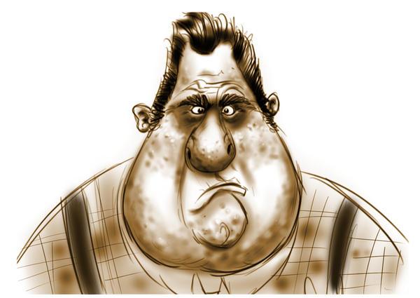fat guy by HEROBOY