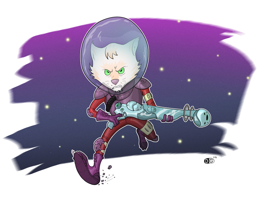 cat space man by HEROBOY