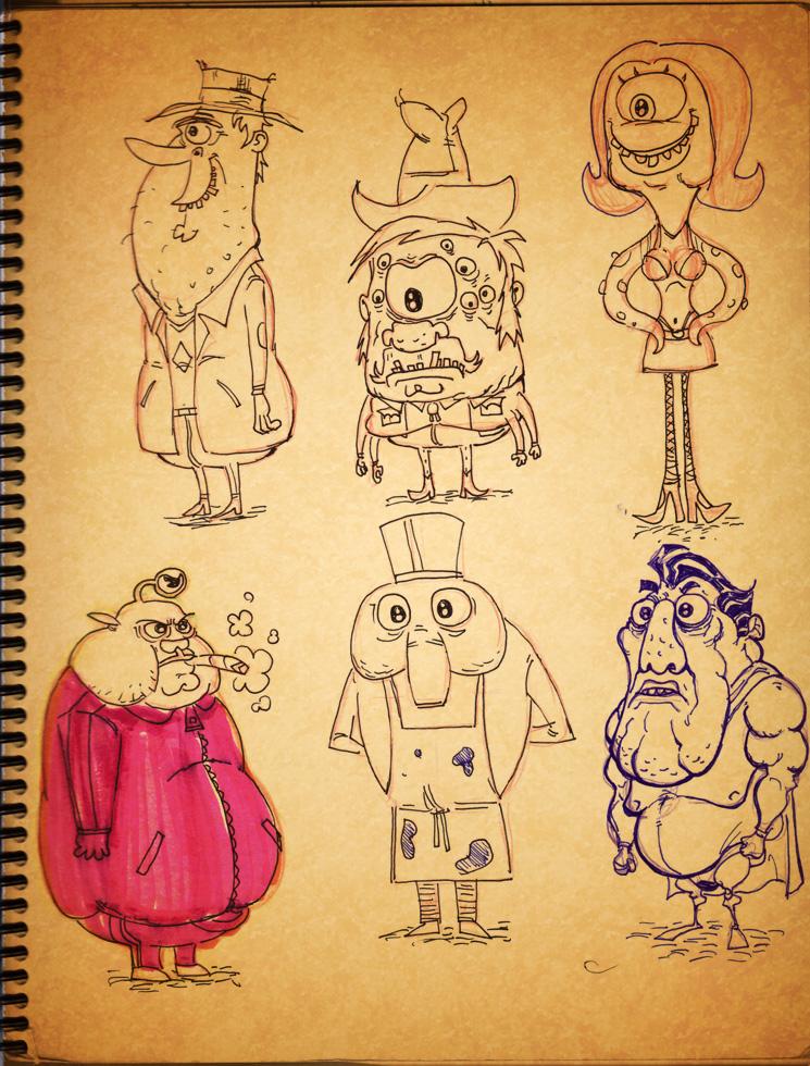 sketch book stuff2 by HEROBOY