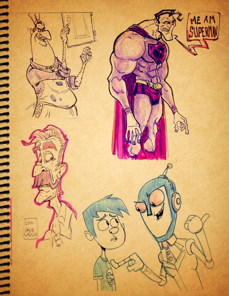 sketch book stuff3 by HEROBOY