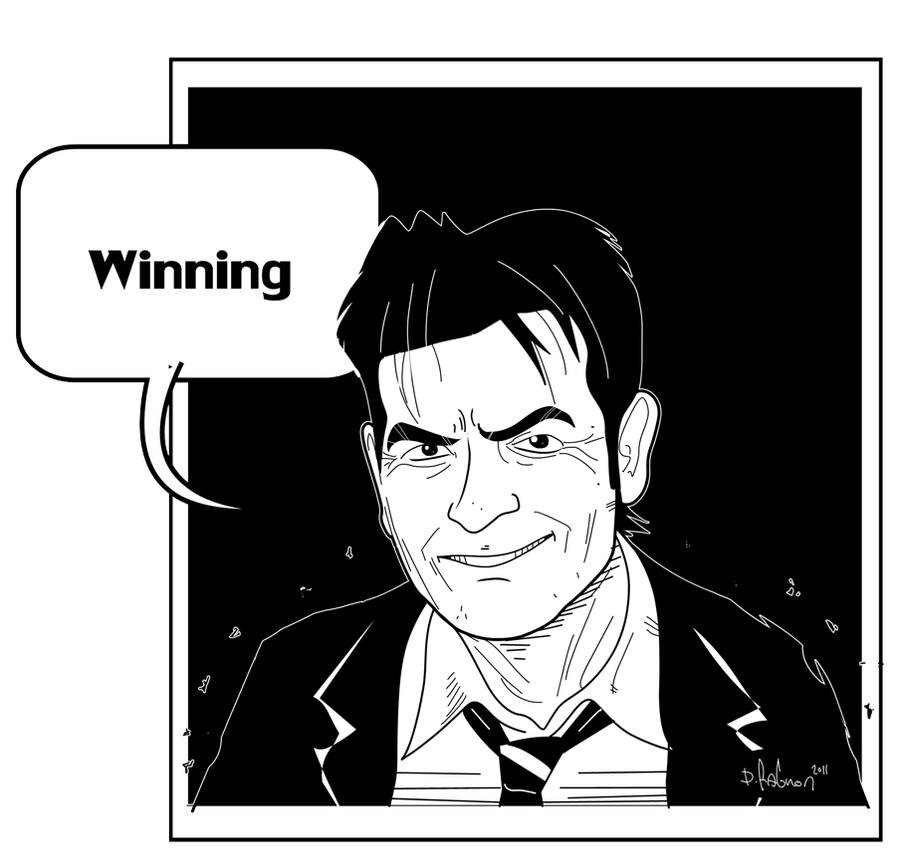 charlie sheen by HEROBOY