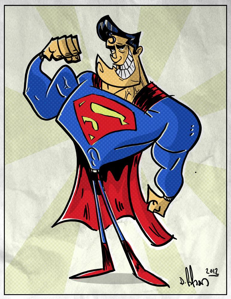 cartoony superman by HEROBOY