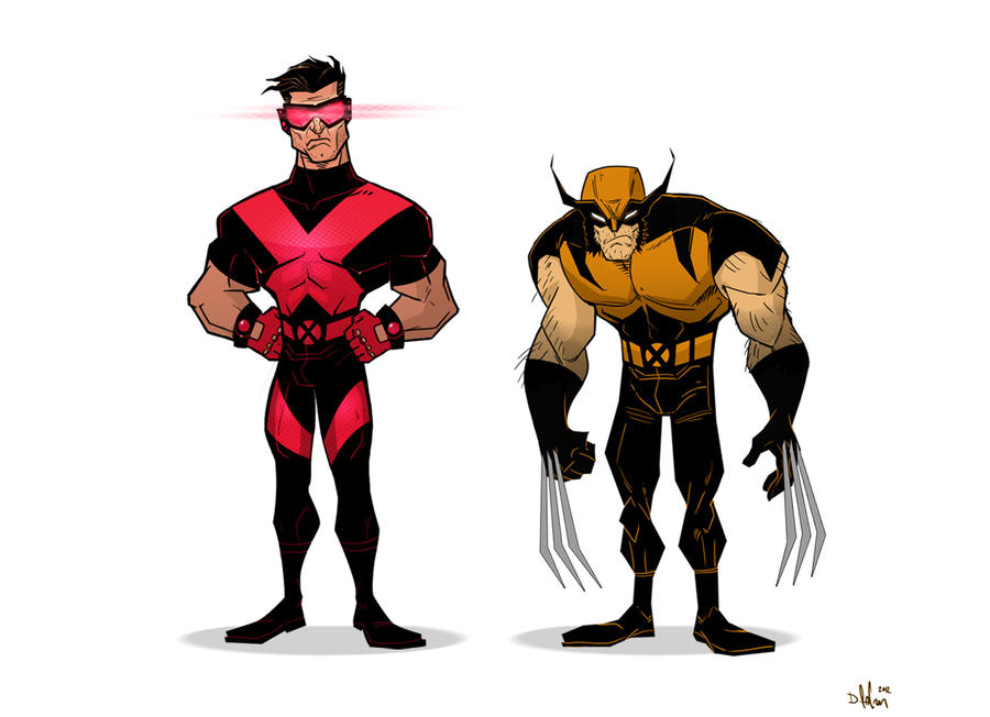 cyclops and wolverine by HEROBOY