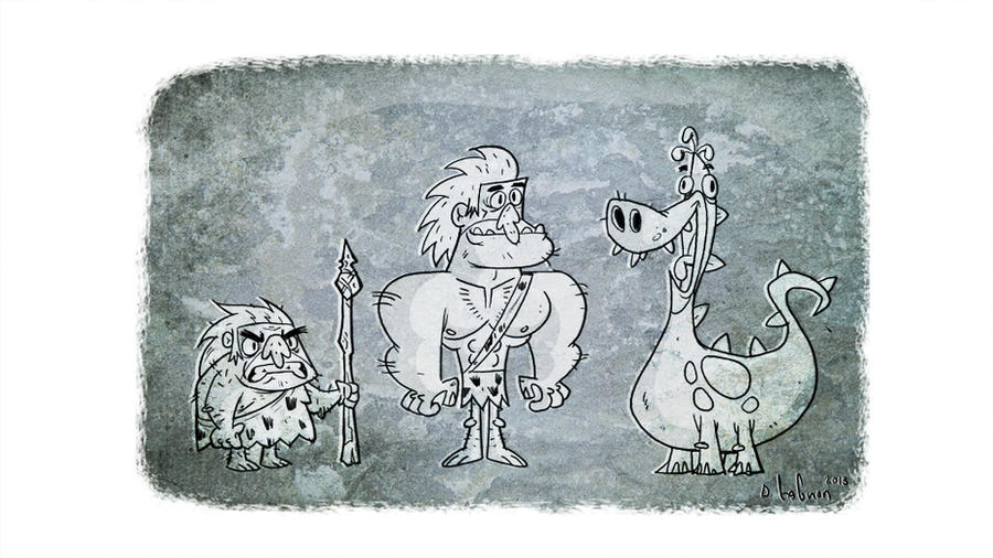 cavemen by HEROBOY