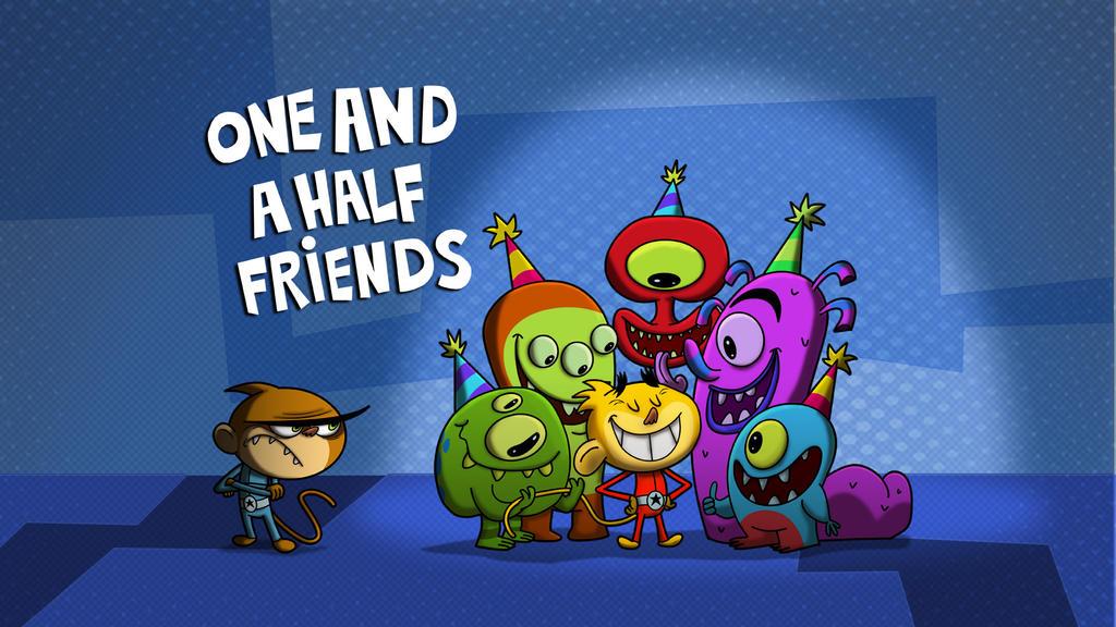 One And A Half Friendstitlecardv2 Copy by HEROBOY