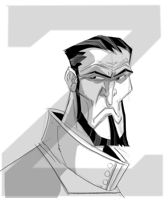 saturday morning sketch general Zod by HEROBOY