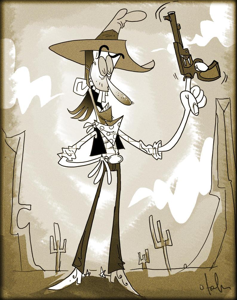 cowboy cartoon by HEROBOY