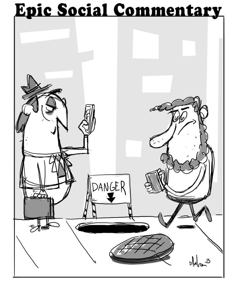 very funny political cartoon by HEROBOY