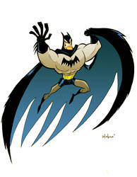 cartoony batman art