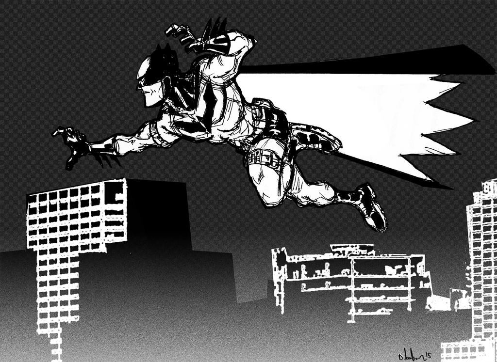 batman jumping by HEROBOY