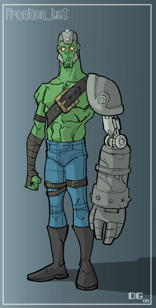 my character franken bot by HEROBOY