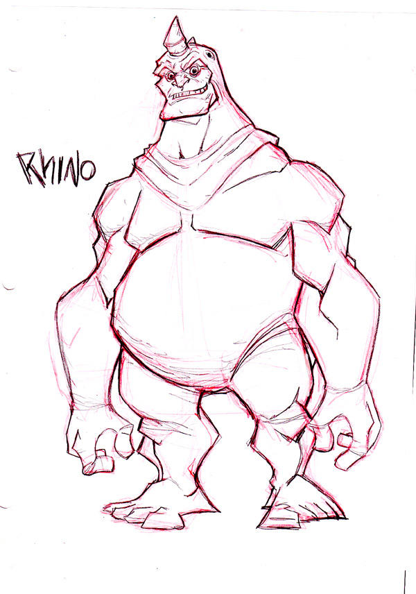 the  rhino by HEROBOY