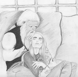 Bonds-Legolas and Gimli in Valinor by BethannNg