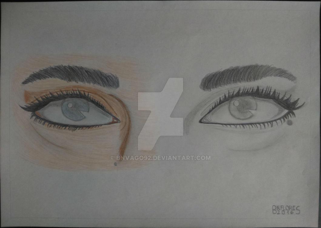 Semicolored Blind Eyes By Bnvago92 On Deviantart