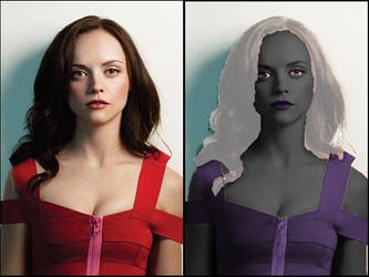 Christina Ricci become a drow by Pupiattola