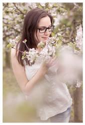 the fragrance of apple blossoms by miezeTatze