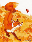 Tiny Inklings - Frolicking fox