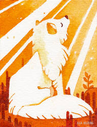 Tiny Inklings - Sun fox by Gnulia