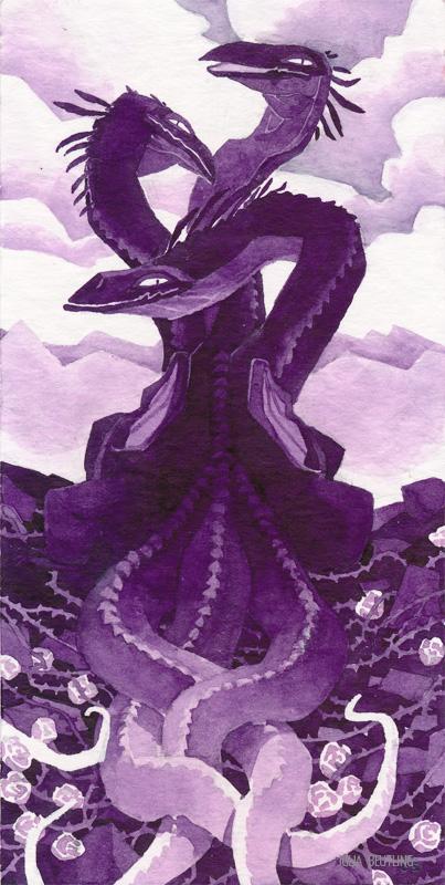 Tiny Inklings - Black rose dragon