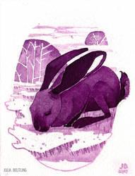 Mini Inktober: Rabbit by Gnulia
