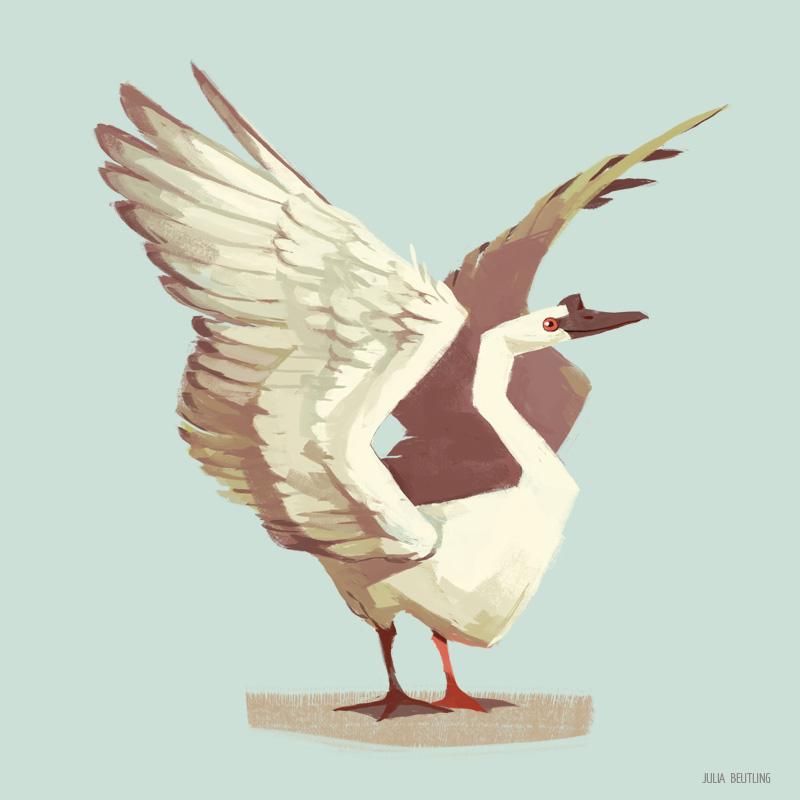 Happy Swan by Gnulia