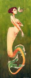 Coy Mermaid II by Gnulia