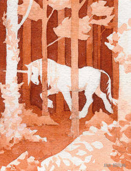 Unicorn and forest