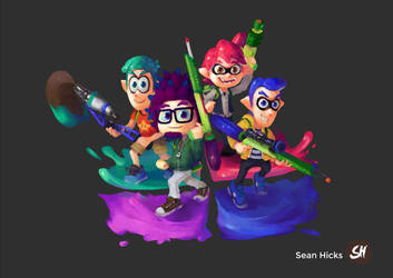 Smashified x Splatoon Illustration