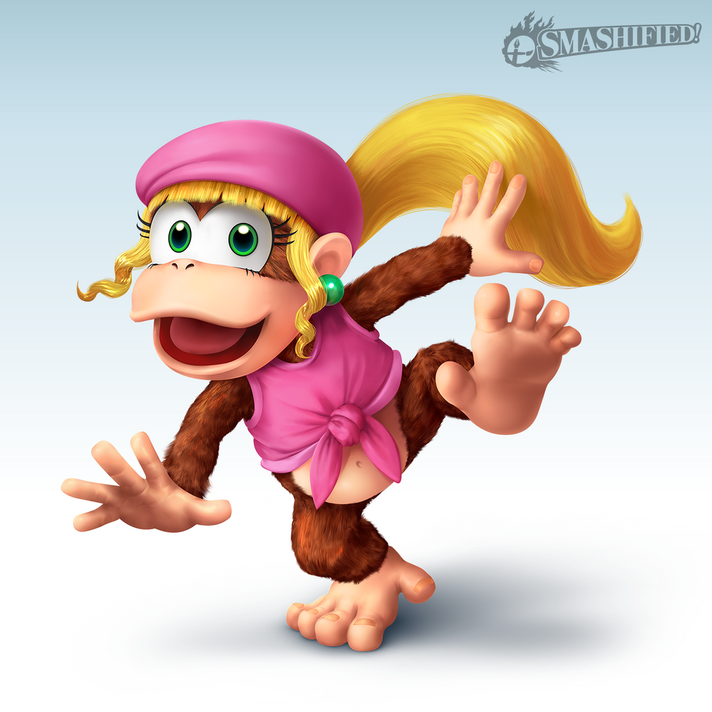Dixie Kong Smashified by SeanHicksArt