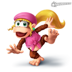 Dixie Kong Smashified Transparent