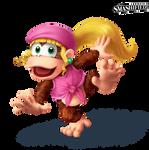 Dixie Kong Smashified Transparent