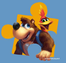 Banjo and Kazooie Speed Paint by SeanHicksArt