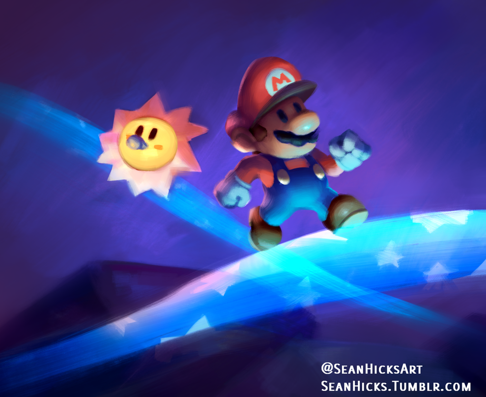 Mar10 Day Celebration- Paper Mario speedpaint by Sean-the-Artist