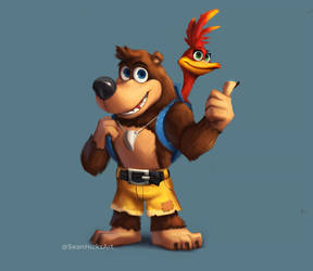 Banjo and Kazooie [Fan Art] by SeanHicksArt