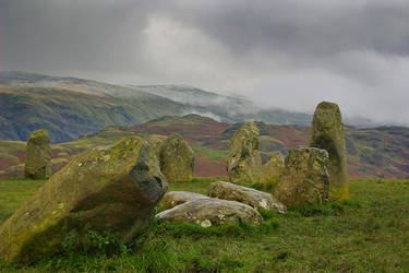 Castlerigg stone circle stock