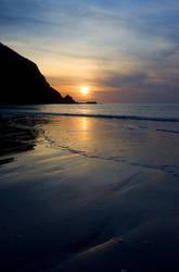 Sunset at Putsborough 1 by AngiWallace