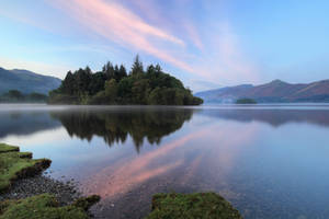 Serene morning lake by AngiWallace
