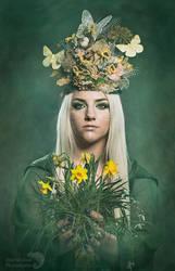 Goddess Ostara ( Eostre) by AngiWallace