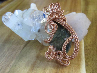 Jasper Pendant In Copper by Ngetal-Child