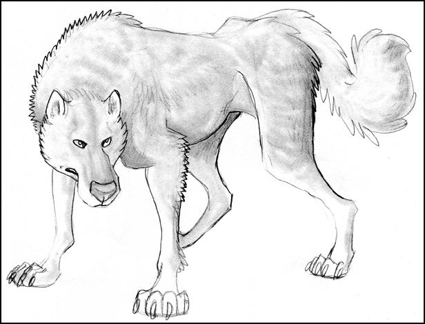 Wolf drawn at work by Ravendyn on DeviantArt
