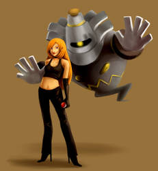 Cally and her Dusknoir by It-is-a-circle