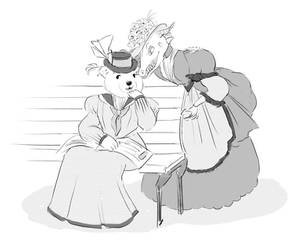 Ms. Dragon and Ms. Bear by It-is-a-circle