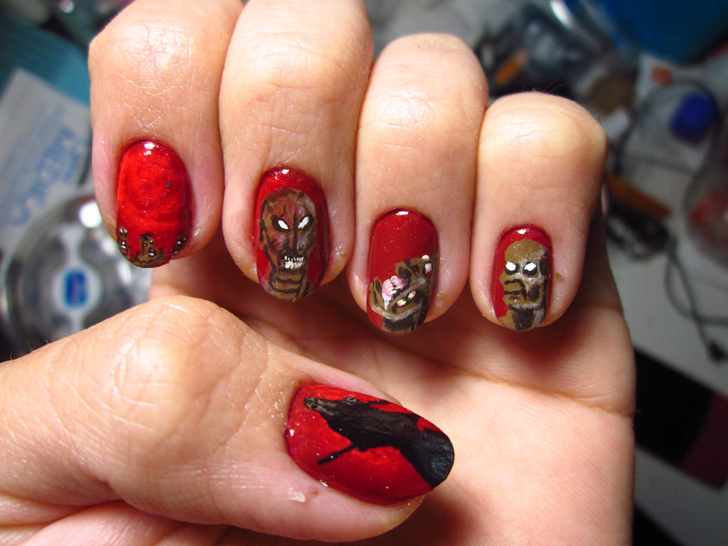 Demilich - Nespithe Freehand Nail Art by Rainwound on DeviantArt