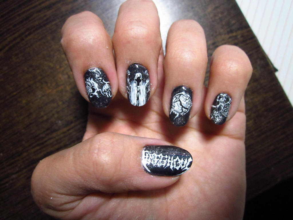 Death Metal Nail Art: Timeghoul by Rainwound ... - Death Metal Nail Art: Timeghoul By Rainwound On DeviantArt