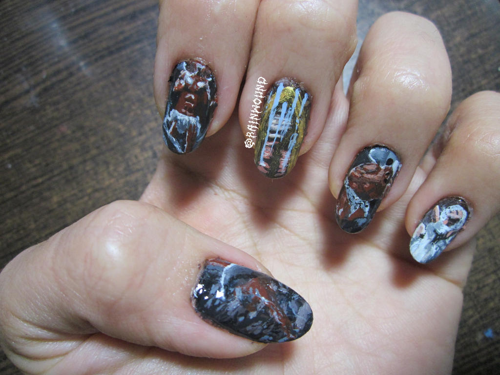 Death Metal Nail Art: Immolation - Here in After by Rainwound ... - Death Metal Nail Art: Immolation - Here In After By Rainwound On