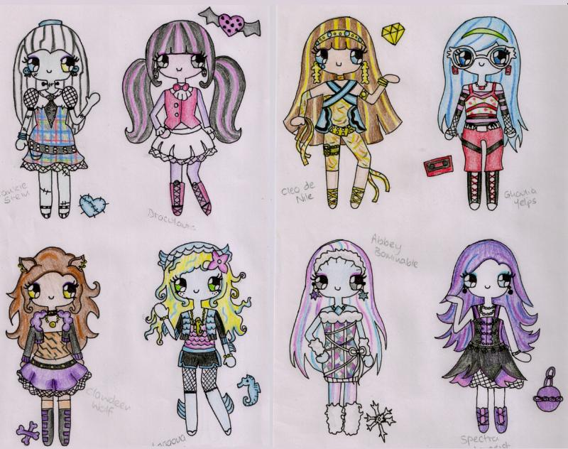 You monster high drawings characters consider